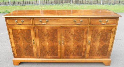 Yew Four Door Sideboard Base